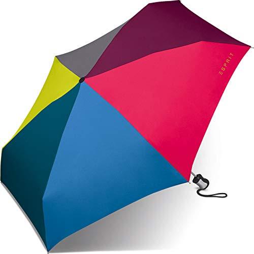 Esprit Mini Regenschirm Taschenschirm Easymatic 4-Section Light Auf-Zu Automatik Multicolor