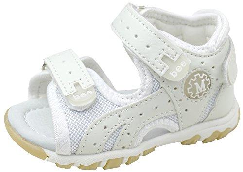 gibra® Trekkingsandalen Sandalen für Babys und Kleinkinder, mit Lederfußbett, weiß, Art. 3247, Gr. 26