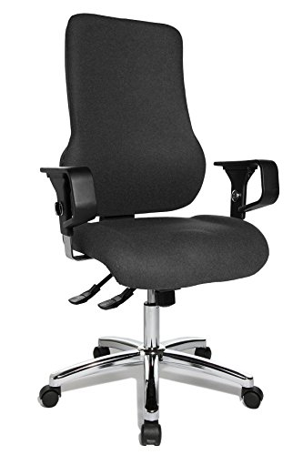 Sedia da ufficio Sitness 55, braccioli ad altezza regolabile Antracite