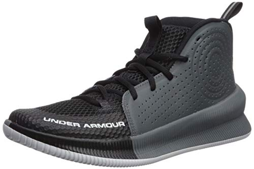 Under Armour Women's Jet 2019 Basketball Shoe, Black (001)/Halo Gray, 8.5