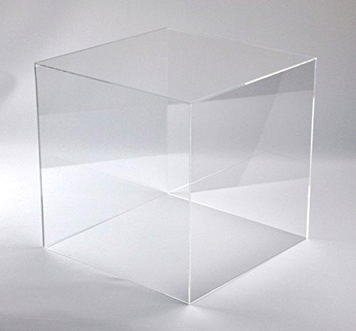 Hansen Schaukasten aus Acryl/Ausstellungshaube/Acrylhaube/Abdeckhaube/Showcase quadratisch, 400x400x200 mm