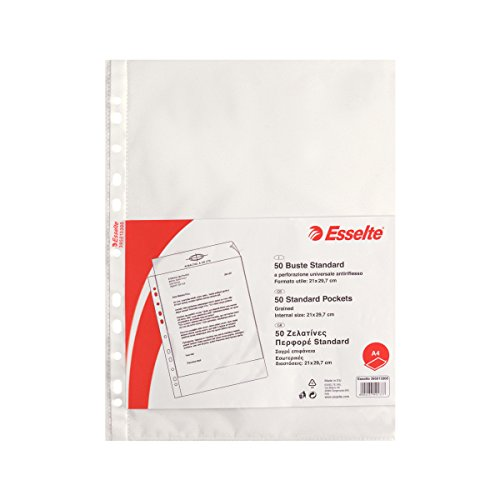 ESSELTE Buste perforate STANDARD - PPL antiriflesso - f.to A4 - 395013300