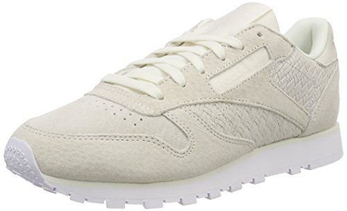 Reebok Damen Classic Leather Woven EMB Laufschuhe, Beige (Chalk White), 39 EU