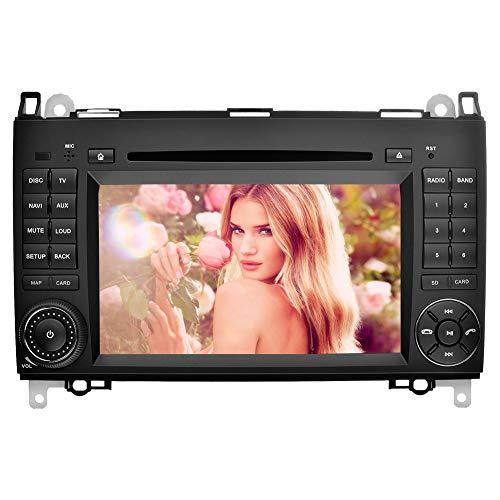 Ohok 7 Zoll 2 Din Touchscreen In Dash Autoradio Moniceiver DVD Player GPS Navigation mit kapazitivem Bildschirm für Mercedes-Benz A-Class W169/ B-Class W245 /Viano/Vito(W639)/Sprinter
