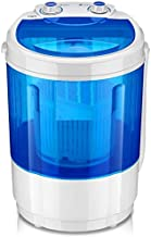 ADA Portable Mini Washing Machine with Dryer Basket(4Kg) - Blue Color/Mini Portable Washing Machine for Compact Laundry, Small Semi-Automatic Compact Washer with Timer Control Single Translucent Tub