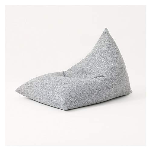 WHHK Adultos Suave Perezoso Sofá Bolsa De Frijoles Sofás De Espuma Dormitorio Sala De Estar Silla Individual Extraíble Lavable Sofá Cama Muebles Chaise Lounge (Color : Grey)
