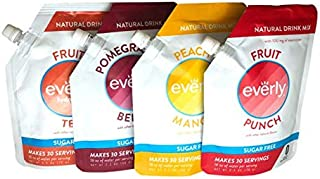 Everly Hydration - Drink Mix Powder, Sugar Free, Natural Sweeteners (Stevia & Organic Erythritol), No Calories, Keto Diet, Water Flavoring and Water Enhancer – Pouch, 30 servings (Variety Pack)