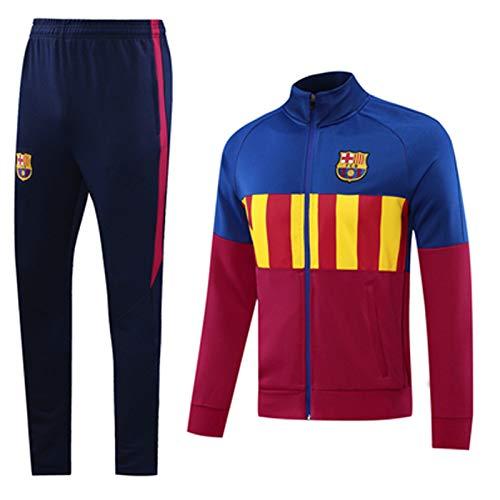 QZZQ Aspecto Jersey BǎRcelona 20-21 Camisetas de Entrenamiento de fútbol para Hombre Top + Pantalones de Manga Larga Trajes Deportivos al Aire Libre La Vida Diaria no se XL