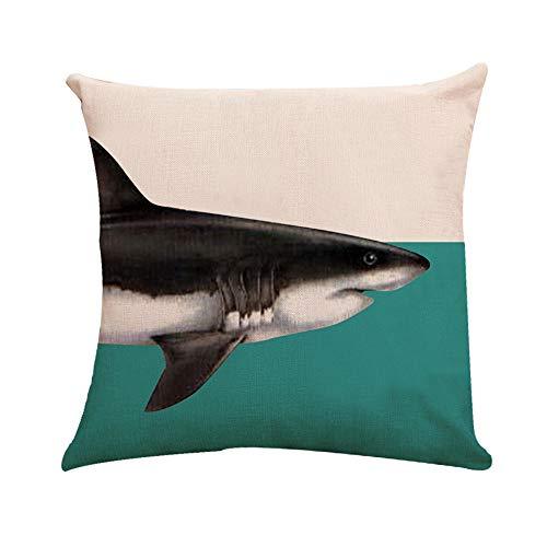 99native Taie d'oreiller série Shark(45×45 cm),Court Peluche Coussin Fall rectangulaire Canapé Maison Auto décoratif taie d'oreiller Housse de Coussin Prunier Rouge Prune Fleurs (B)