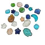 TELLW Juguetes para niños Siete color cristal bola plana grano multicolor guijarro cabeza acuario paisaje decorativo mármol