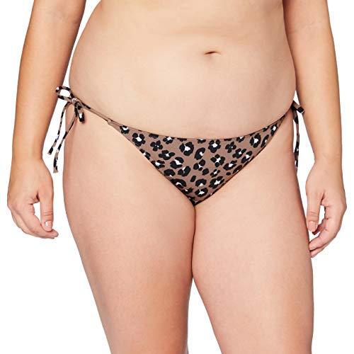 Calvin Klein Unisex String Side TIE-Print Bikini-Unterteile, Stephen Leopard Neutral, L