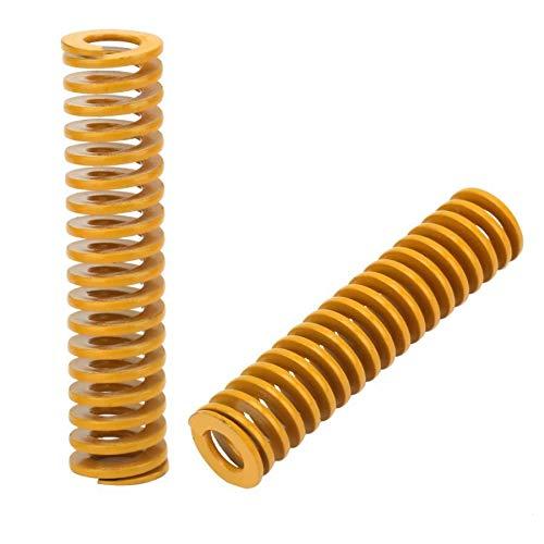 2 Buah Dari 12 Mm ID 6 Mm Mati Springs Tambahan Beban Ringan Cetakan Spring Kuning Spiral Stamping Kompresi Mati musim Semi Printer Aksesoris ZRONG (Length : 20mm)