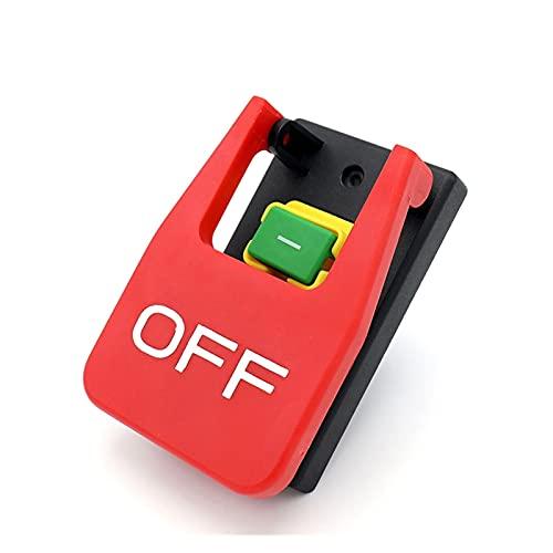 Jgzwlkj Interruptores basculantes Interruptor de botón de Parada de Emergencia de Tapa roja Off-on-on-on