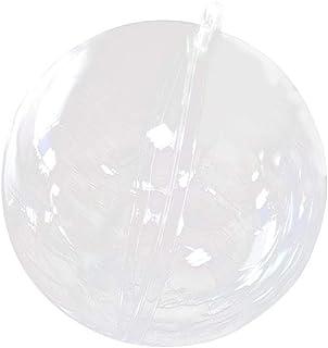 3cm Fenteer 10pcs Boule en Plastique Transparente Remplissable D/écoration de Arbre