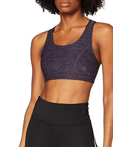 Marca Amazon - AURIQUE Low Impact Strappy - Sujetador deportivo Mujer, Morado (Nightshade Marl), XS, Label:XS