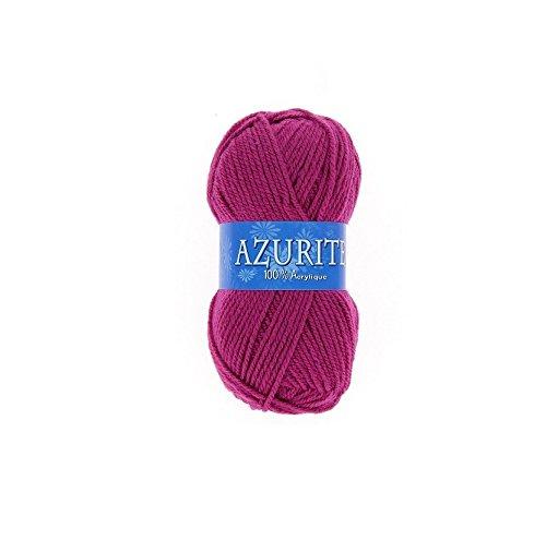 Pelote de laine Azurite 100% Acrylique Tricot Crochet Tricoter - Framboise - 0283