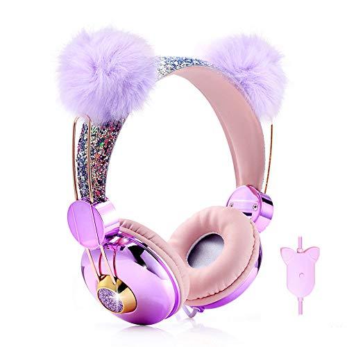41h+xJOok5L - Kids Headphones Glitter Bear