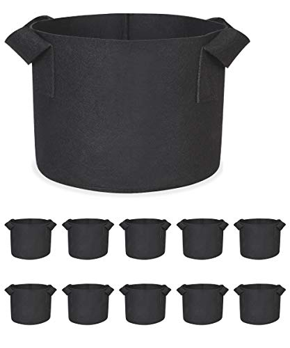 10-Pack 1 Gallon Plant Grow Bags Heavy Duty Fabric Grow Pots with Handles