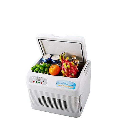 GHJA Mini refrigerador Personal Compacto con Monitor numérico portátil de 12 l, enfría y calienta para Oficina, Dormitorio Universitario, Dormitorio y apartamento, refrigerador de compresor Peque