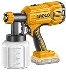 Ingco - Aerógrafo a batería de litio de 20 V desnudo pistola de pintura
