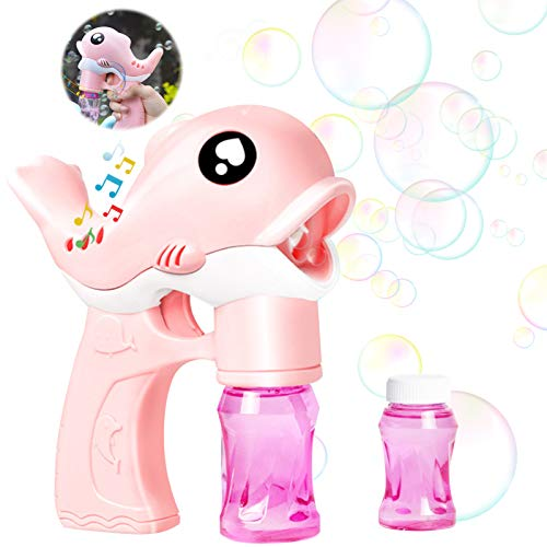 Bubble Machine,Pistola a Bolle di Sapone,Bubble Maker Automatico,Macchina per Bolle per Bambini,Bubble Machine...