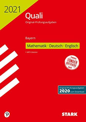 STARK Original-Prüfungen Quali Mittelschule 2021 - Mathematik, Deutsch, Englisch 9. Klasse - Bayern