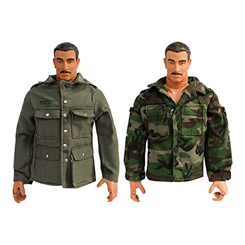 EBCO 1/6 Scale German Infantry Officer Tunic Jacket &US Woodland Top for 12' Male Military Action Figure Body(2 Pack)