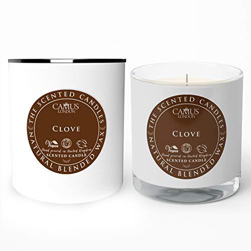 Camus London Bougie parfumée 100 % naturelle de clou de girofle - Formule écologique - Végan - Sans cruauté envers les animaux