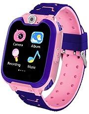 Kids Game Smartwatch MP3-speler Muziek Horloge - [2GB Micro SD inbegrepen] Touchscreen Wekker Camera Polshorloge voor Jongens Meisjes Vakantie Verjaardag Speelgoed Geschenken (Roze)