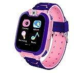 linyingdian Smartwatch for Kids Game Watch-Juego de música Reloj Inteligente (Incluye Tarjeta Micro SD de 2GB), con grabadora de Juegos de Llamadas, Reloj Despertador para niños y niñas (Rosa)
