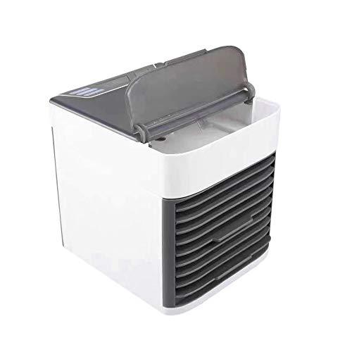 Aire acondicionado portátil JIAOAOO, mini ventilador enfriador de aire, aire acondicionado pequeño 3 en 1, ventilador enfriador de agua USB