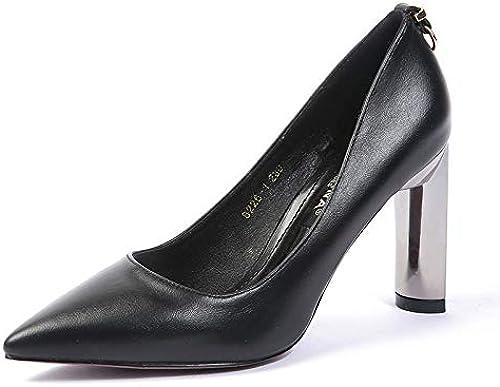 FLYRCX Simple et à la la Mode Pointu épais avec des Chaussures à Talons Hauts Chaussures Peu Profondes Chaussures de Travail à Talons Hauts  économisez 60% de réduction et expédition rapide dans le monde entier