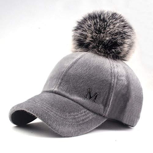 Xme Warmer Plüschhut für Herbst und Winter, weiße Schirmmütze für Damen, warme Baseballkappe für den Außenbereich