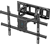 PERLESMITH TV Wall Mount Full Motion Bracket for Most 37-75 inch LED LCD OLED 4K Flat Curved TV Swivel Dual Articulating Arms Extension Rotation Tilt Max VESA 600x400 Supports TVs up to 132lbs, PSLF7