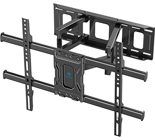TV Wall Mount Full Motion Bracket for Most 37-75 Inch LED LCD OLED 4K Flat Curved TV Swivel Dual Articulating Arms Extension Rotation Tilt Max VESA 600×400 Supports TV up to 132lbs