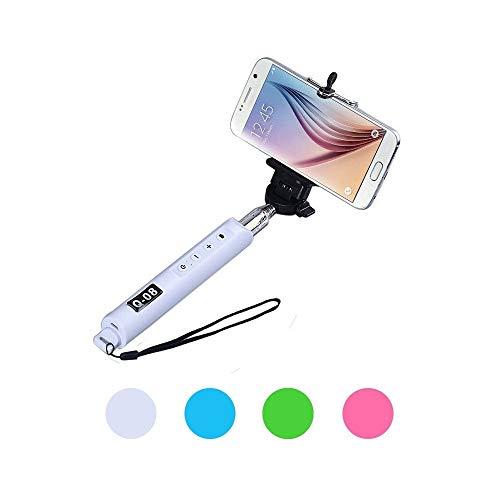 TradeShopTraesio® - BASTONE PER SELFIE MONOPIEDE PER IPHONE SAMSUNG HTC CON TASTO ZOOM E ACCENSIONE