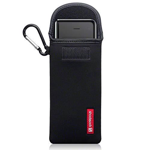 shocksock, Kompatibel mit Samsung Galaxy Fold Neopren Tasche mit Carabiner Hülle - Schwarz