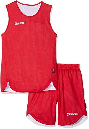 Spalding - Completo Maglia e Pantaloncini da Basket Ragazzo, Ragazzo, 300401001, Rouge/Blanc, FR : M (Taille Fabricant : 10 Ans)