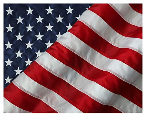 American Flag & Pole Co. 6x10 ft American Flag, Nylon US Flag - Sewn Stripes and Embroidered Stars - Made in The USA