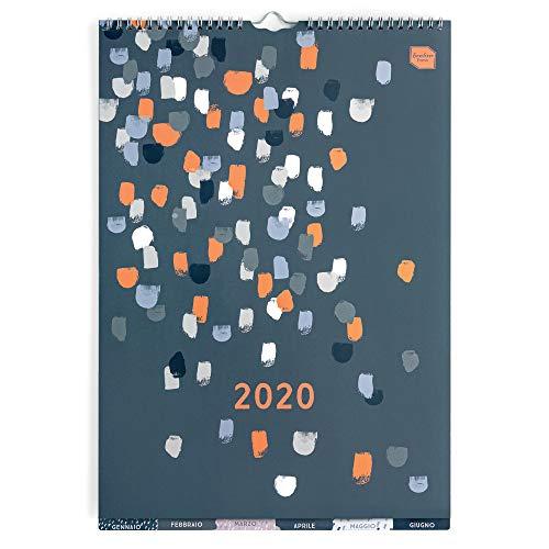 Boxclever Press Perfect Year Calendario 2020 A3 con etichette. Calendario 2020 da muro da Gen a Dic 2020. Ampio spazio per ogni giorno e per le note. Con tasca e adesivi promemoria.
