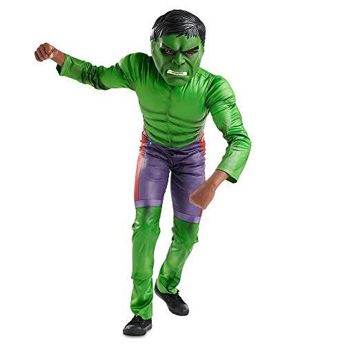 Marvel Hulk Costume for Boys, Size 13 Green