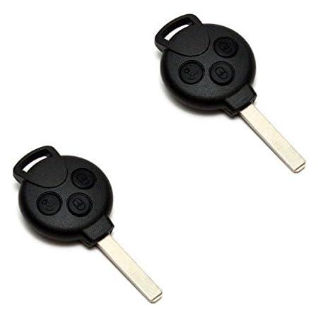 Jurmann 2x Smart Fortwo 451 Schlüssel Gehäuse Fernbedienung 3 Tasten Benz Ks24 450 451 452 454 Auto