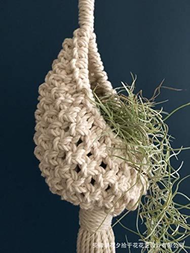 Tapiz nórdico tejido a mano bohemio tapiz de la red de la bolsa de aire piña flor de la canasta de la flor del viento adornos tapiz