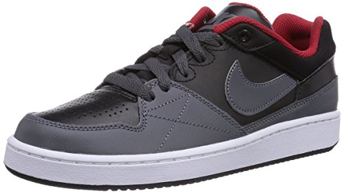 Nike Priority Low Gs 653672-006 Jungen Skateboardschuhe Grau (Black/Dark Grey-Gym Red) 38