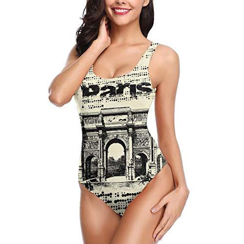 Women One Piece Swimsuit ARC De Triomphe Paris Swimsuits Backless Thong Bathing Suits