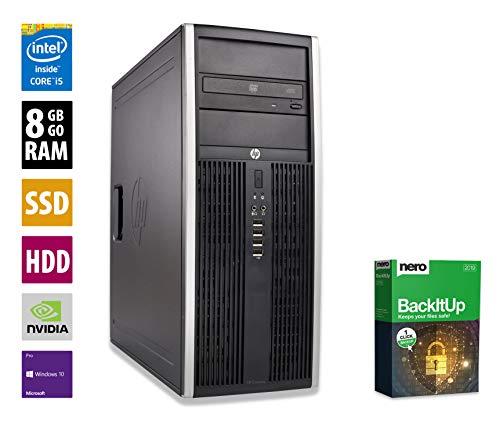 Pc para juegos HP 8300 CMT | i5-3470 @ 3,2 GHz | 8GB RAM | 1000GB HDD | 240GB SSD | Nvidia GTX 1050 | DVD-ROM | Windows 10 Pro