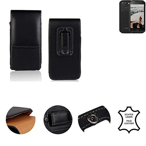 K-S-Trade® Gürtel Tasche Für Doogee S30 Handy Hülle Leder Schwarz, 1x