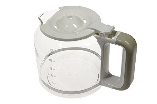 Glaskanne AT4066009010 kompatibel / Ersatzteil für Ariete 1342 Kaffeemaschine Vintage Farbe: beige