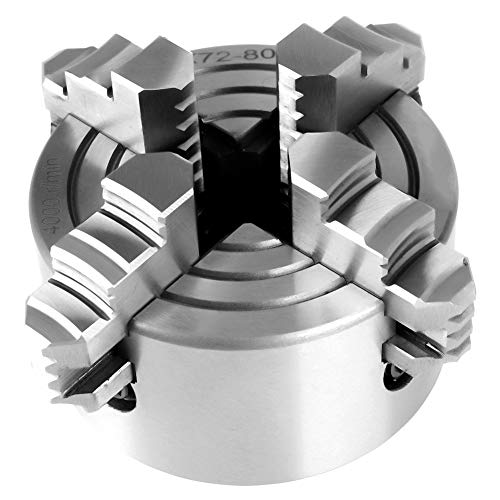 Fantastic Prices! 4 Jaw Lathe Chuck, 3inch K72-80 4-Jaw Independent & Reversible Jaw Metal Lathe Chu...