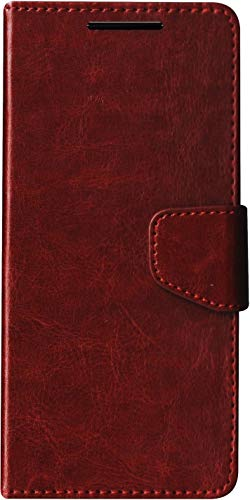 SBMS Leather Flip Cover for Panasonic Eluga Ray 700 (Brown)